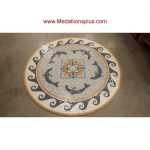 "Trentino, 48"" Polished Mosaic Floor Medallion"